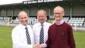 Rathfriland FC opens RB Gordon Bell Grandstand