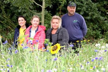 Wildflower meadow planted in memory of little Daniel