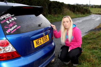 One woman protest over Rathfriland hunt