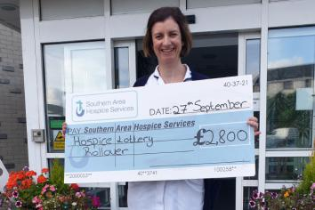 Delight for Cabrina with a Hospice lottery rollover win