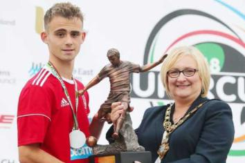 Jake wins County Player of tournament award
