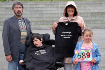 Gathering in Solitude of people 'fed up' over Stormont situation